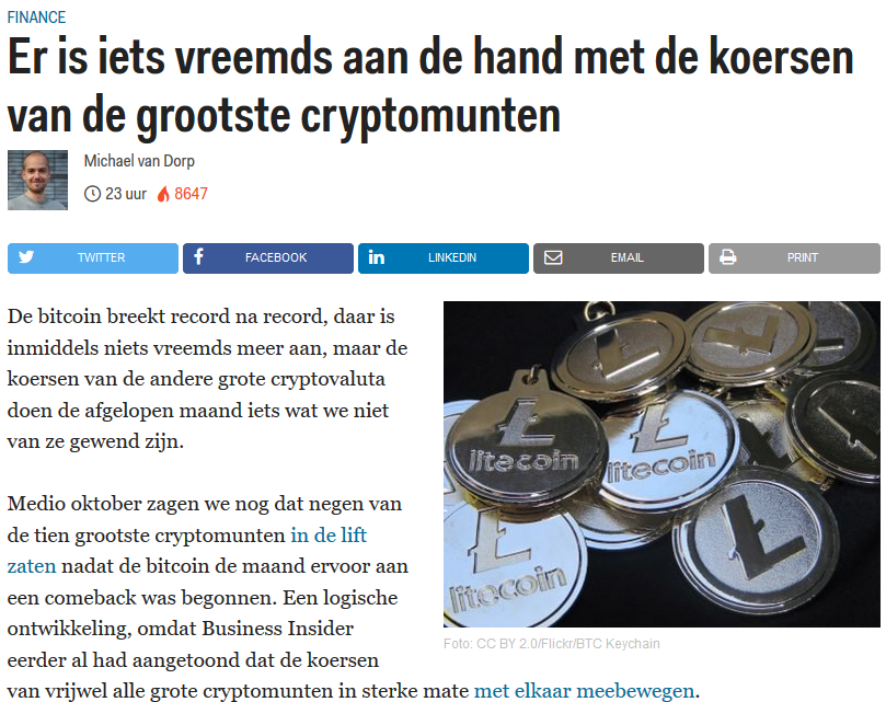 Business Insider correlatie cryptomunten